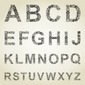 The alphabet from business of subjects a vector illustration Royalty Free Stock Photography