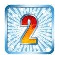 Alphabet Celebration number - 2 two Royalty Free Stock Image