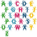 Alphabet cheerful Stock Images