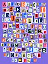 Alphabet Collage ABC Vector Al...