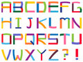 Alphabet coloré Images libres de droits