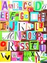 Alphabet color Royalty Free Stock Photo