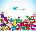 Alphabet with colorful letters Stock Photo