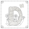 Alphabet coloring page.