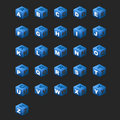 Alphabet Cubes (Blue Theme) Stock Image