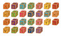 Alphabet cubes illustration of on a white background Stock Photography