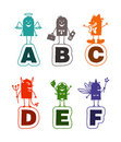 Alphabet de dessin animé - A à F Photos stock