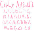 Alphabet de Girly Image libre de droits