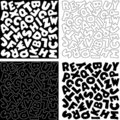 Alphabet Designs in Black and White Royalty Free Stock Image