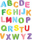 Alphabet du colorfull 3d Photographie stock libre de droits