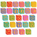 Alphabet english blocks Royalty Free Stock Photo