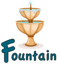 Alphabet  F for fountain Royalty Free Stock Photo