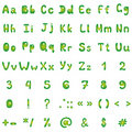 Alphabet, figures and signs Royalty Free Stock Photos