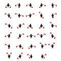 Alphabet - flag semaphore system
