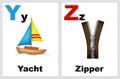 Alphabet flashcards Royalty Free Stock Photo