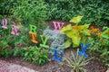 The alphabet garden at storybook gardens Royalty Free Stock Image