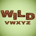 Alphabet imitating leopard fur vector Stock Photography