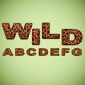 Alphabet imitating leopard fur vector Stock Photo