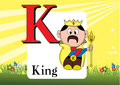 Alphabet k illustration of isolated with king Royalty Free Stock Photos