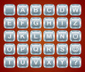 Alphabet keyboard buttons Stock Photos