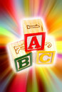 Alphabet learning blocks Royalty Free Stock Photo