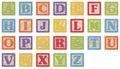 Alphabet Learning Blocks Royalty Free Stock Photo