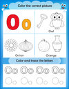 Alphabet learning and color letter O