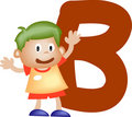Alphabet letter B (boy) Stock Images