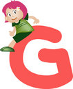 Alphabet letter G (girl) Royalty Free Stock Photos