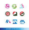 Alphabet letter logo icon set