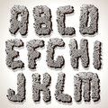 Alphabet Letter Made from Old Cracked Stone Vector Stock Images