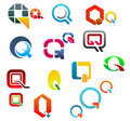 Alphabet letter Q Royalty Free Stock Photos