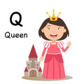 Alphabet Letter Q-queen,vector Royalty Free Stock Photo