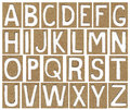 Alphabet letters made from cardboard paper school background Stock Images