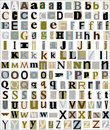Alphabet Letters Magazine & Newspaper Style Stock Images