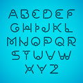 Alphabet letters set of illustration Royalty Free Stock Images