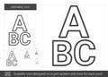 Alphabet line icon.