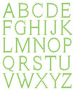 Alphabet made from apple Stock Images