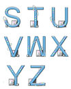 Alphabet Mod Elements S to Z Royalty Free Stock Photos