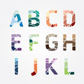 Alphabet modern color abstract style Design. Vector illustration Royalty Free Stock Photo