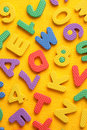 Alphabet and Number Blocks Royalty Free Stock Photos