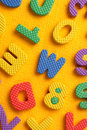 Alphabet and Number Blocks Royalty Free Stock Image