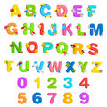 Alphabet and Number Set Royalty Free Stock Image