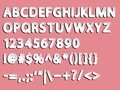 Alphabet, numeral and signs