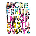 Alphabet poster, dry brush ink artistic modern calligraphy print