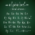 Alphabet and punctuation chalkboard chalk hand drawing doodle in vector Royalty Free Stock Photos