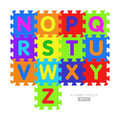 Alphabet puzzle pieces set Royalty Free Stock Image