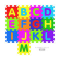 Alphabet puzzle pieces set Royalty Free Stock Photo