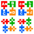 Alphabet puzzles Royalty Free Stock Photo
