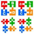 Alphabet puzzles Royalty Free Stock Photo